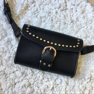 Handbags - studded leather fanny pack or waist bag